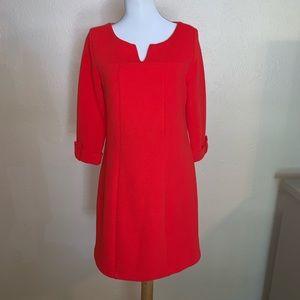Boden Blood Orange Textured dress, Size 8